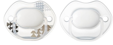 Tommee Tippee Urban Style Orthodontic Soothers 2pcs Clear 0-6m