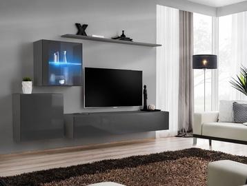 ASM Switch XV Living Room Wall Unit Set Graphite