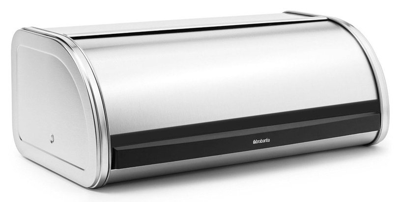 Brabantia Roll Top Bread Bin Matt Steel