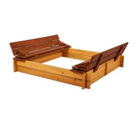 Folkland Timber Sandbox Four Corner With Foldable Lid Natural