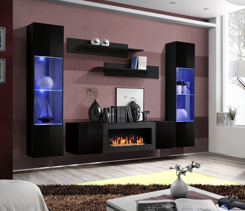 ASM Fly M3 Living Room Wall Unit Set Black