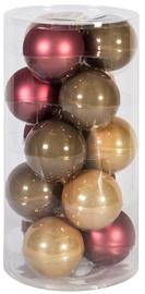 Jõulupuu ehe Home4you Mixed Colors, 80 mm, 15 tk