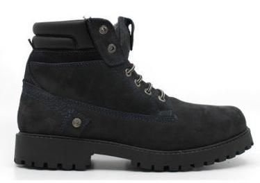 Wrangler Creek Fur Leather Winter Boots Navy 43