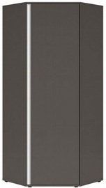 Black Red White Graphic Hallway Wardrobe 78x191x78cm Wolfram Grey