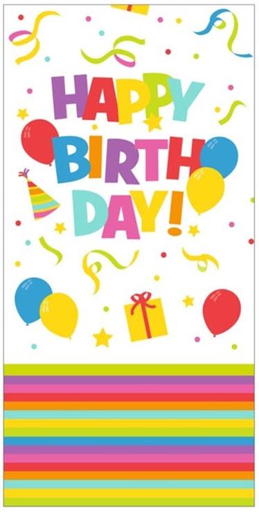 Herlitz Tablecloth 120x180 Happy Birthday Mix It