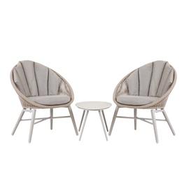 Home4you Shelly Balcony Furniture Set Grey