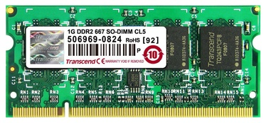 Transcend JetRam 1GB 667MHz DDR2 SO-DIMM CL5 JM667QSU-1G