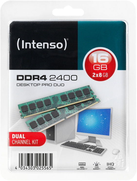 Intenso Desktop Pro 16GB 2400MHz CL17 DDR4 KIT OF 2 5642162