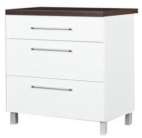 Нижний кухонный шкаф Bodzio Loara 80DS White, 800x520x860 мм