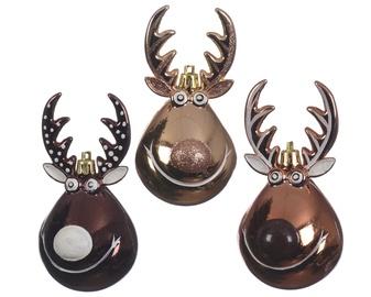 Елочная игрушка Decoris 027508 Gold/Brown, 1 шт.