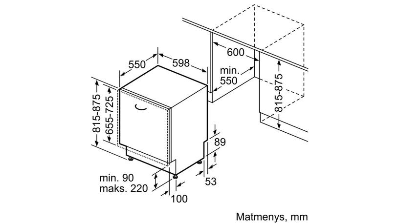Integreeritav nõudepesumasin SMV68MX04E BSH (BOSCH)
