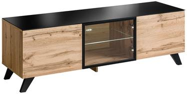 ТВ стол ASM RTV Thin Wotan Oak/Black, 1500x450x470 мм