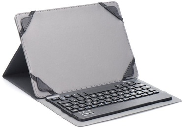 "Blun UNK Universal Book Case w/Bluetooth Keyboard and Stand 7"" Black"
