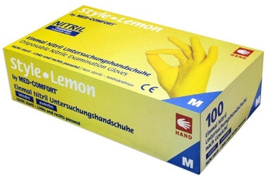 Ampri Med Comfort Style Lemon Nitril Powder Free Gloves S 100pcs