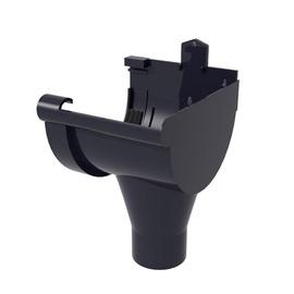 Scala Plastics PVC Rain Drainage Outlet G80 Right Brown