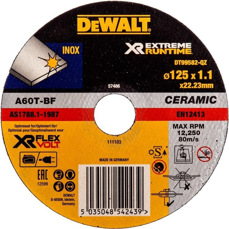 DeWALT DT99582-QZ XR Extreme Runtime Grinder Disc 125mm
