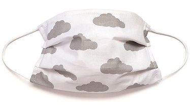 MamoTato Child Face Mask With Filter Pocket White Clouds
