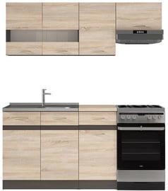 Кухонный гарнитур Black Red White Junona, 1.7 м