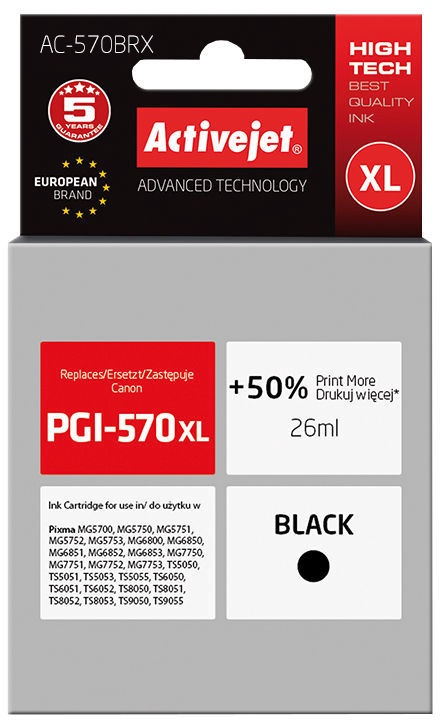 ActiveJet Cartridge AC-570BRX 26ml Black