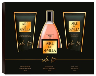 Instituto Español Aire De Sevilla Solo Tu 150ml EDT + 150ml Body Cream + 150ml Shower Gel