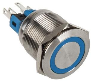 DimasTech Switch Push Button 22mm Silverline Blue