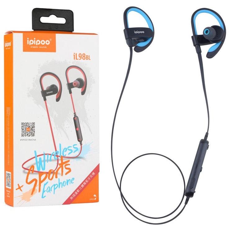 ipipoo iL98BL Bluetooth In-Ear Earphones Blue