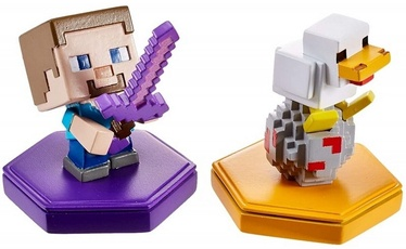 Minecraft Earth 2-Pack Attacking Steve and Spawning Chicken Boost Minifigures