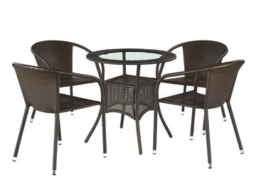 Halmar Midas Garden Table Dark Brown