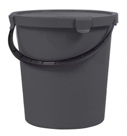 Plast Team Berry Bucket With Lid 22x22x22cm 5l Grey