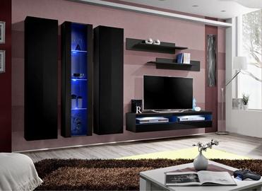 ASM Fly P14 Living Room Wall Unit Set Black