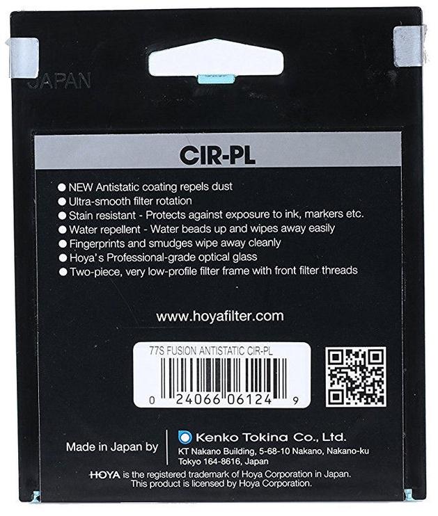 Hoya Fusion Antistatic CIR-PL Filter 82mm