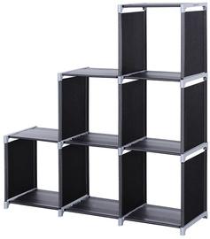 Songmics Storage Shelves Black/Grey 106x110cm
