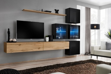 ASM Switch XIX Wall Unit Wotan Oak/Black