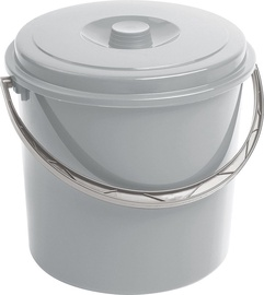 Curver Bucket With Lid 12L Gray