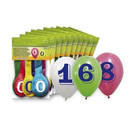 SN Balloons Number ''6'' 8pcs 5260-6
