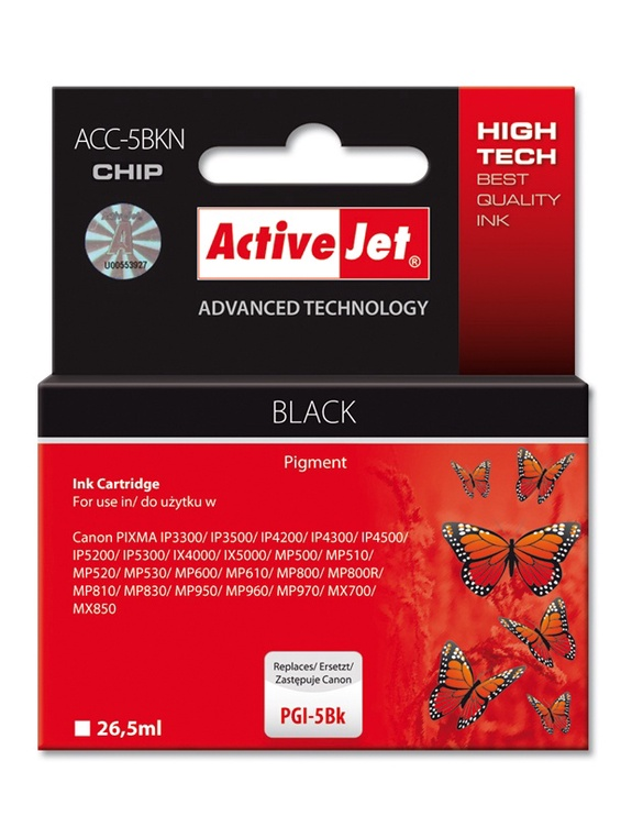 Action ActiveJet ACC-5BN Black