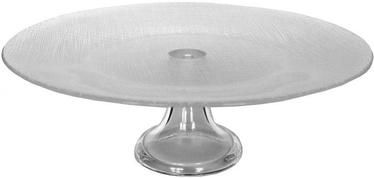 Dekor Cam Sis Clear Gray Cake Stand 28cm