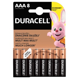 Duracell LR03 Alkaline Plus Power Battery AAA x 8