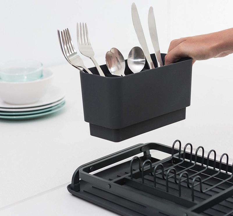 Brabantia 117268 Compact Dish Drying Rack Dark Grey