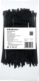 Qoltec Zippers Nylon UV 3.6x150mm 100pcs. Black
