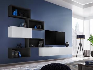 ASM Blox VIII Living Room Wall Unit Set Black/White