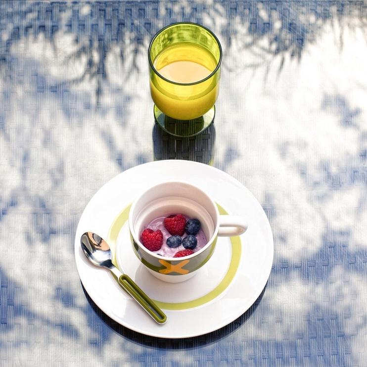 "ViceVersa Dessert Plate ""The Dot"" 23cm Blue"