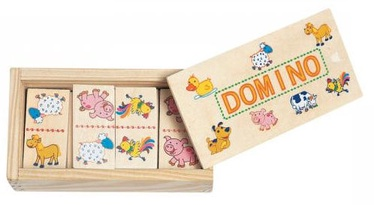 Lauamäng Woodyland Mini Wooden Domino Animals 28pcs