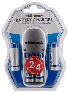 Whitenergy Battery Charger With AA Batteries 2800mAh x4
