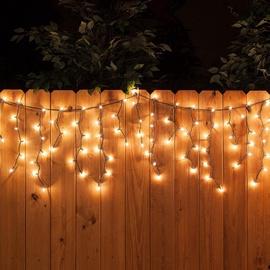 Jõulutuled jääpurikad 20B100W-WW, 100 LED, soe valge, 4,9m