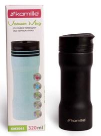 Kamille Vacuum Mug 2in1 320ml Black KM2061
