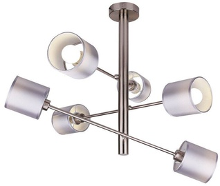 Candellux SAX Hanging Ceiling Lamp 6x40W E14 Satin /Nickel