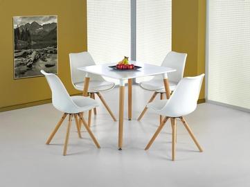 Обеденный стол Halmar Socrates Square White, 800x800x740 мм