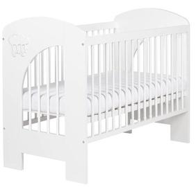 Детская кровать Klups Nel Cloud White, 125x66 см