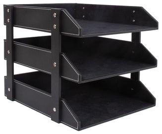 Home4you Walter Document Shelves Black